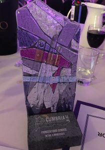 Pioneer Foodservice | Cumbria Family Business Awards | Retail & Wholesaler Winners trophy