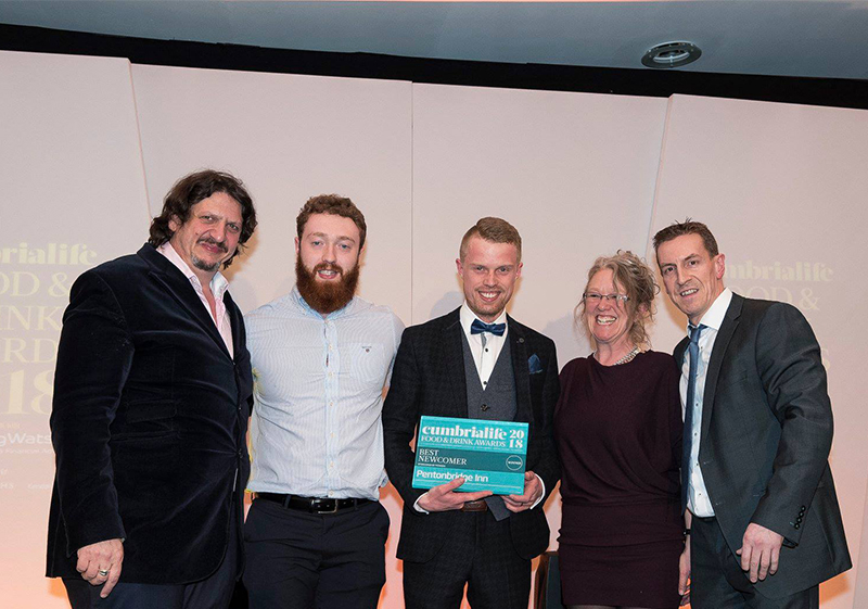Pioneer Foodservice | Cumbria Life Food & Drink Awards | Best Newcomer | Pentonbridge Inn