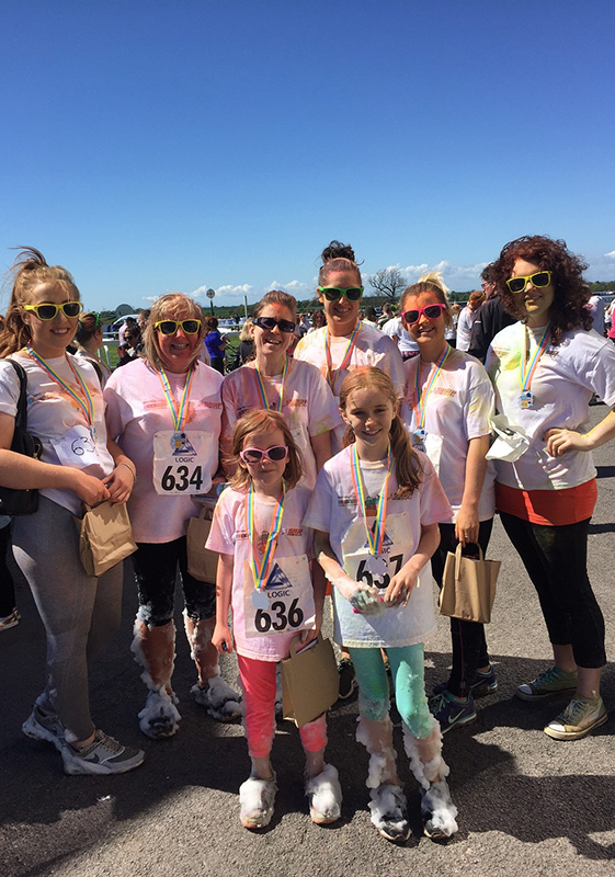 Pioneer Foodservice | Eden Valley Hospice | Colour Run 2018 | Carlisle Racecourse