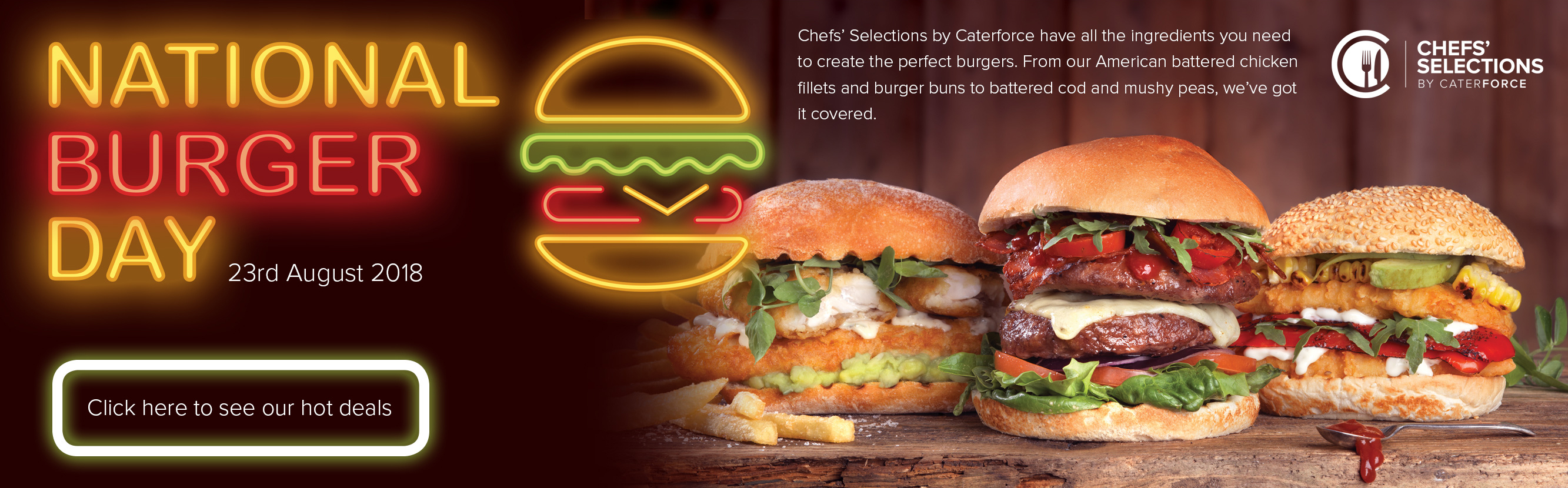 Pioneer Foodservice | National Burger day 23 August 2018