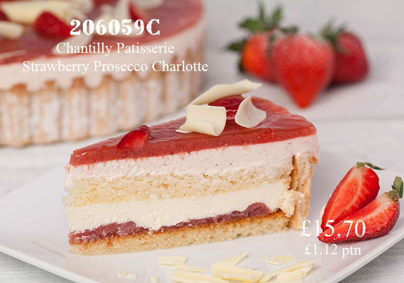 Pioneer Foodservice | Chantilly Strawberry Prosecco Charlotte | Carlisle, Cumbria