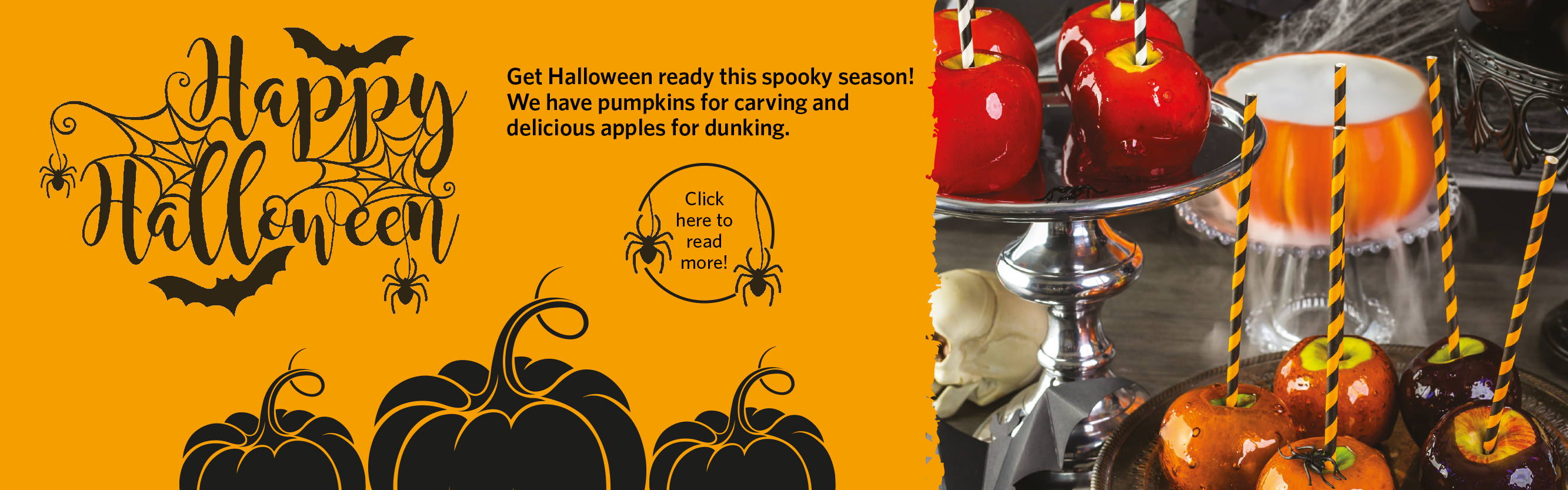 Pioneer Foodservice | Halloween | pumpkins | toffee apples | Carlisle, Cumbria