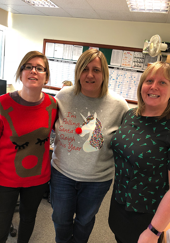 Pioneer Foodservice | Christmas Jumper Day 2018 | Eden Valley Hospice | Carlisle Cumbria