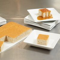 Pioneer Foodservice | Handmade Shortbread Company | Banqueting banana sponge pudding with salted caramel sauce