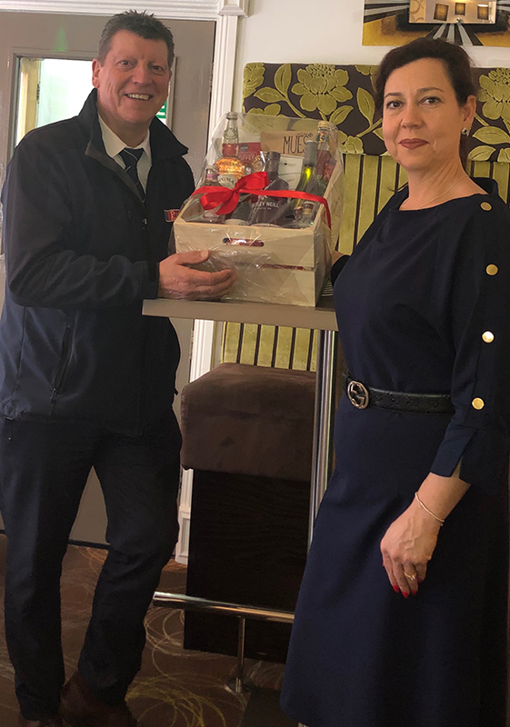 Pioneer Foodservice | food show hamper winner | Georgian House