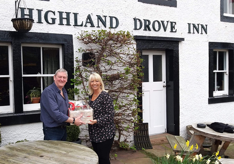 Pioneer Foodservice | food show hamper winner | Highland Drove