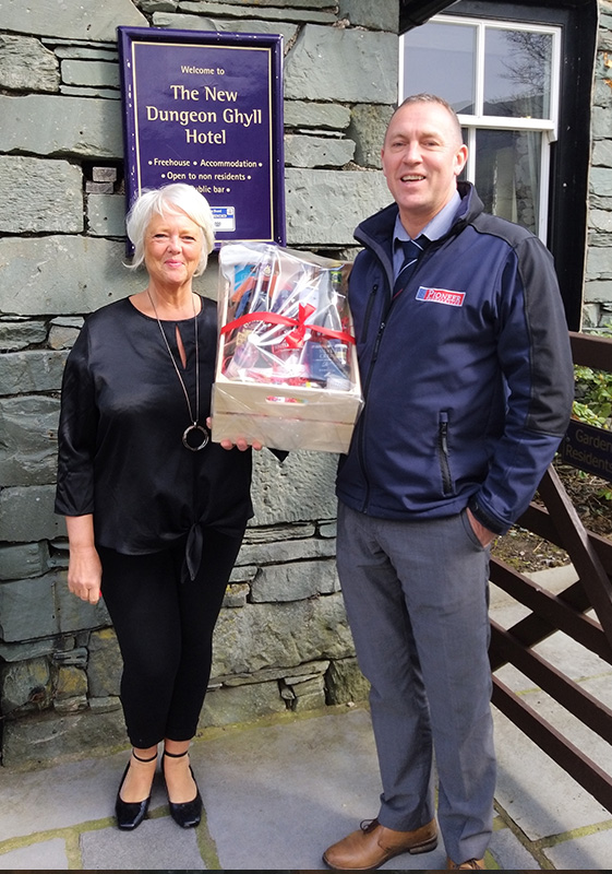 Pioneer Foodservice | food show hamper winner | New Dungeon Ghyll