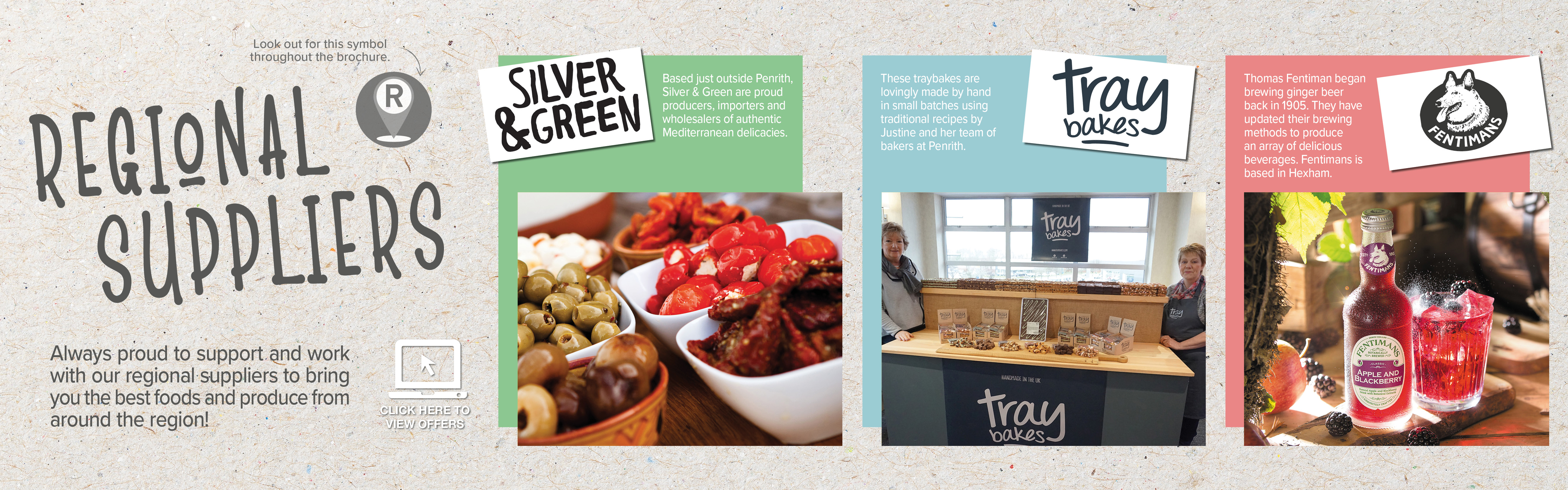 Pioneer Foodservice | Regional suppliers | Fentimans | Traybakes, Penrith | Silver & Green Olives