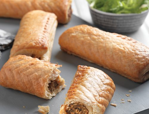 Proper Cornish Vegan Sausage Rolls 6""